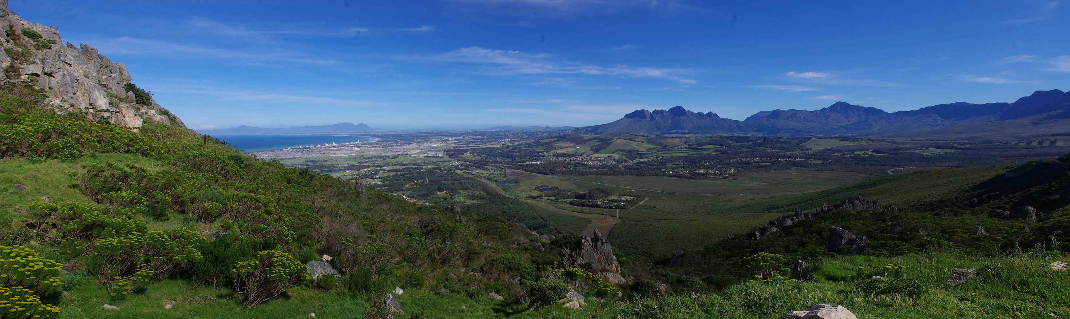 Panorama from Sir Lowry's Pass across False Bay